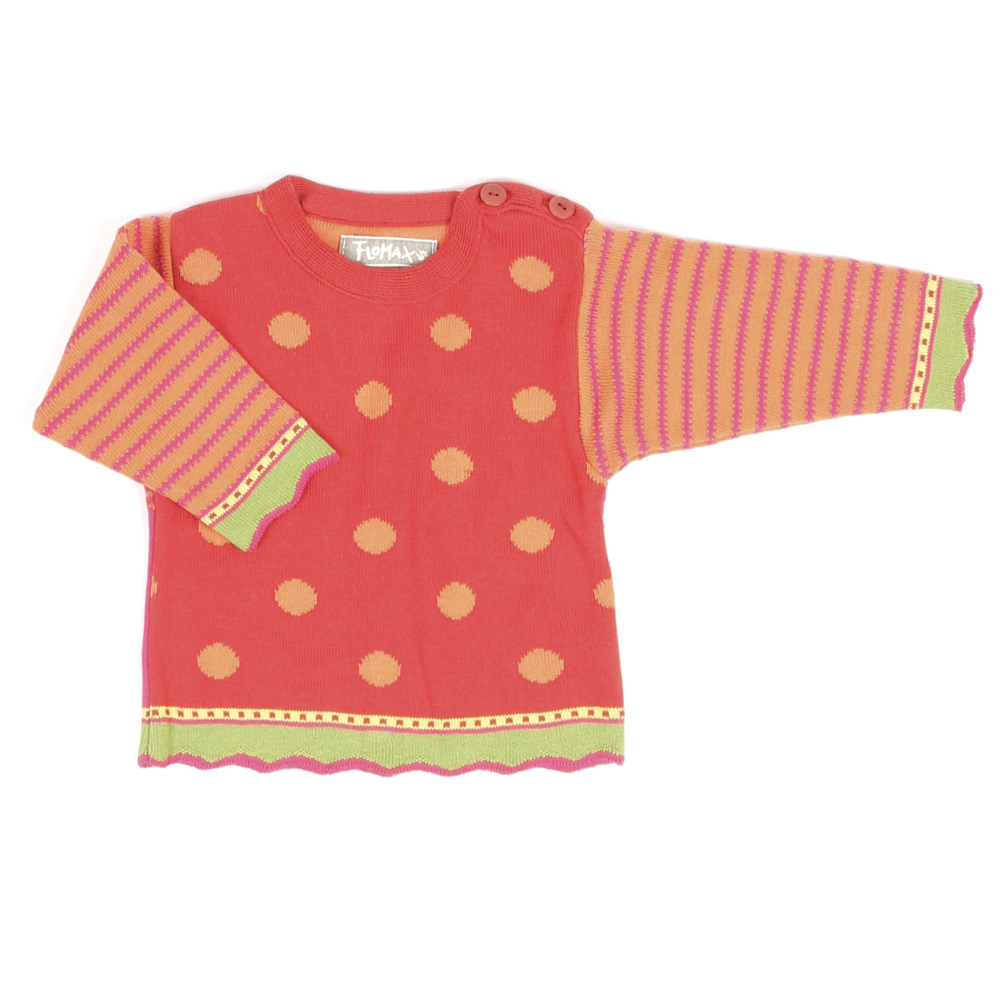 Pullover Birdy Baby mohnrot bunt