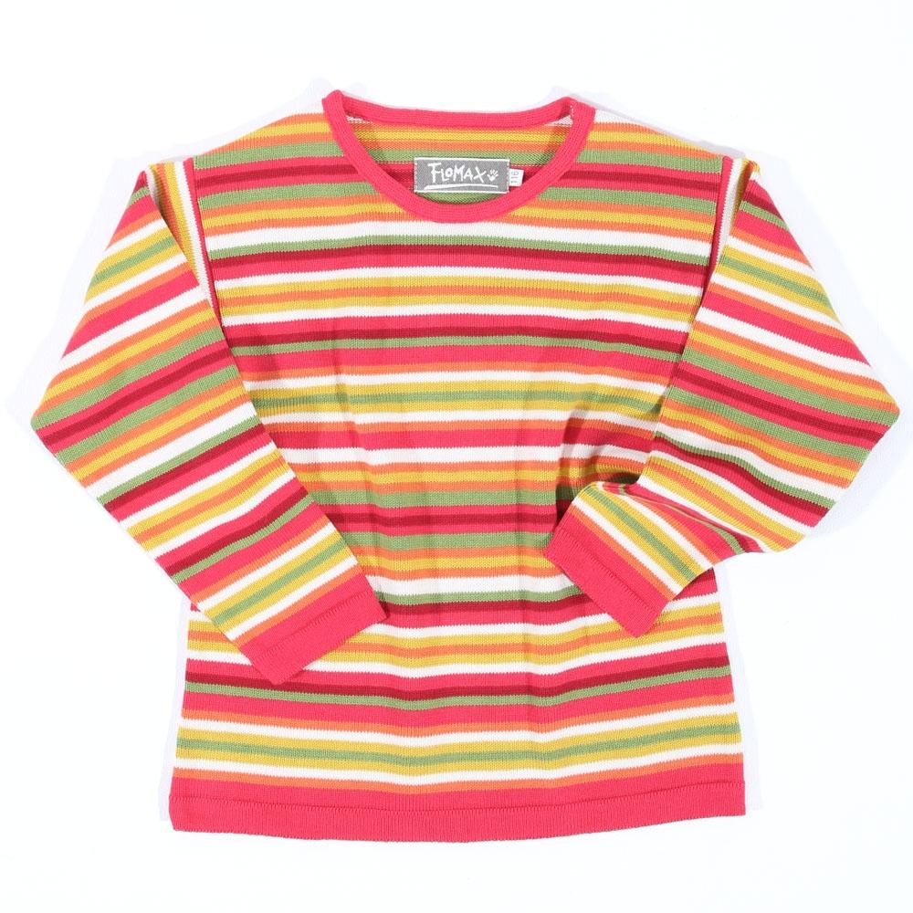 Pullover Maxi Kinder hibiskus|bunt