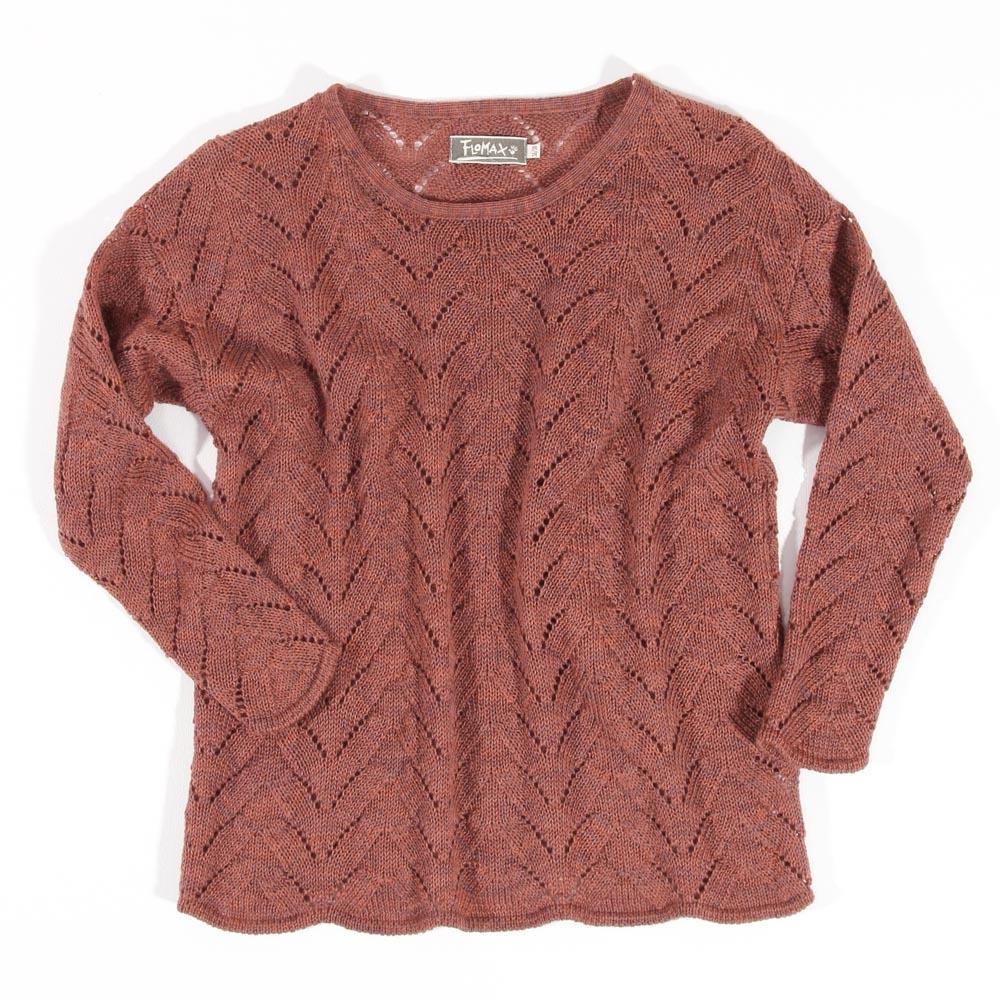 Ajour Oversize Pullover Sina | rosenholz