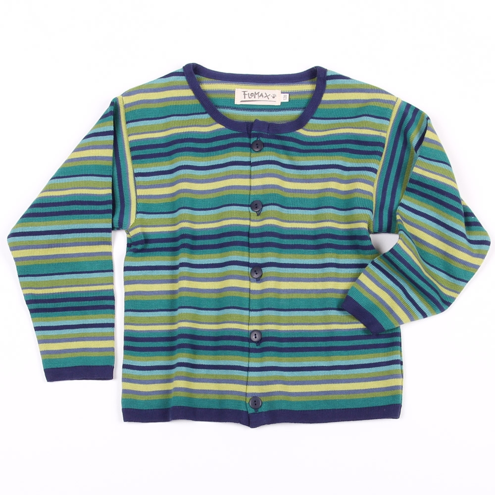 Strickjacke Trixi Kinder indigo grün