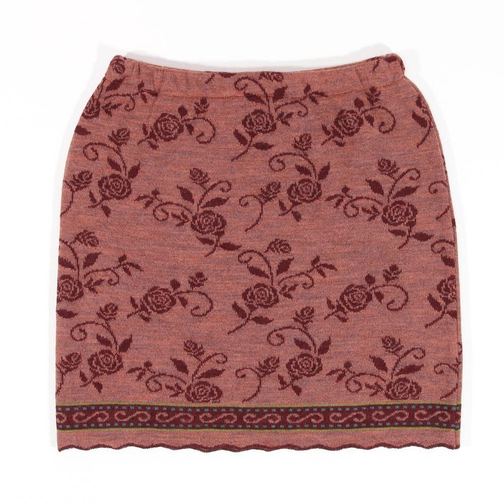 Strickrock Bille rosenholz|burgunder
