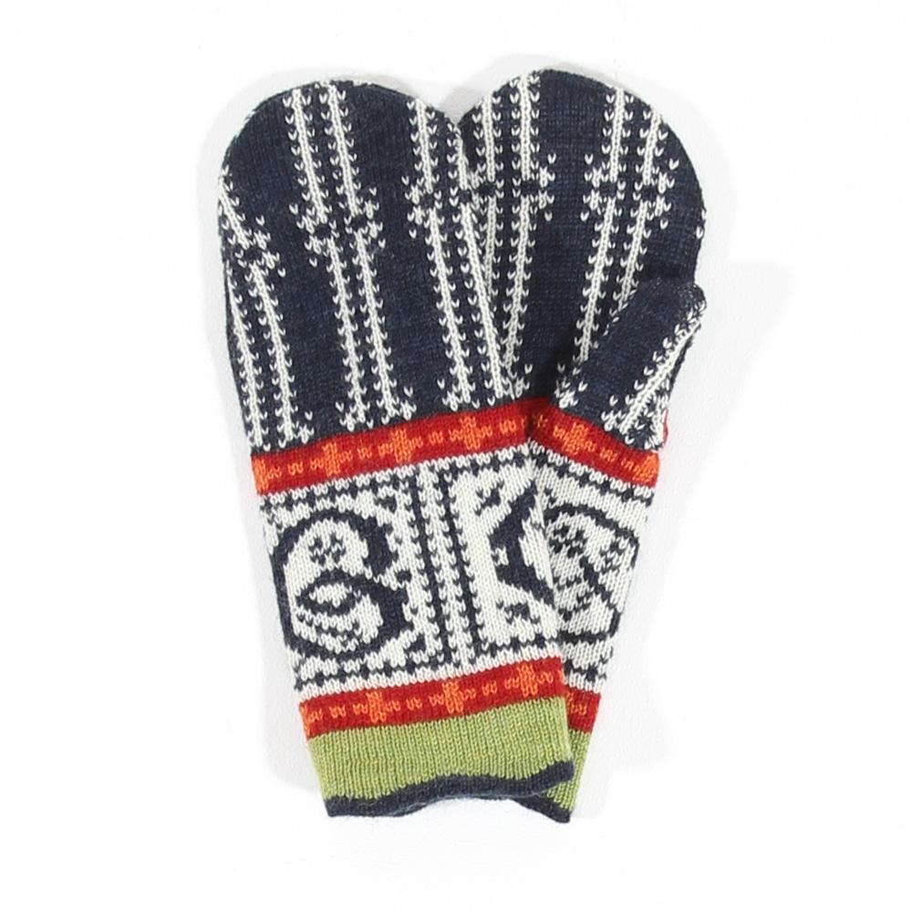 Handschuhe Nicki nachtblau|natur