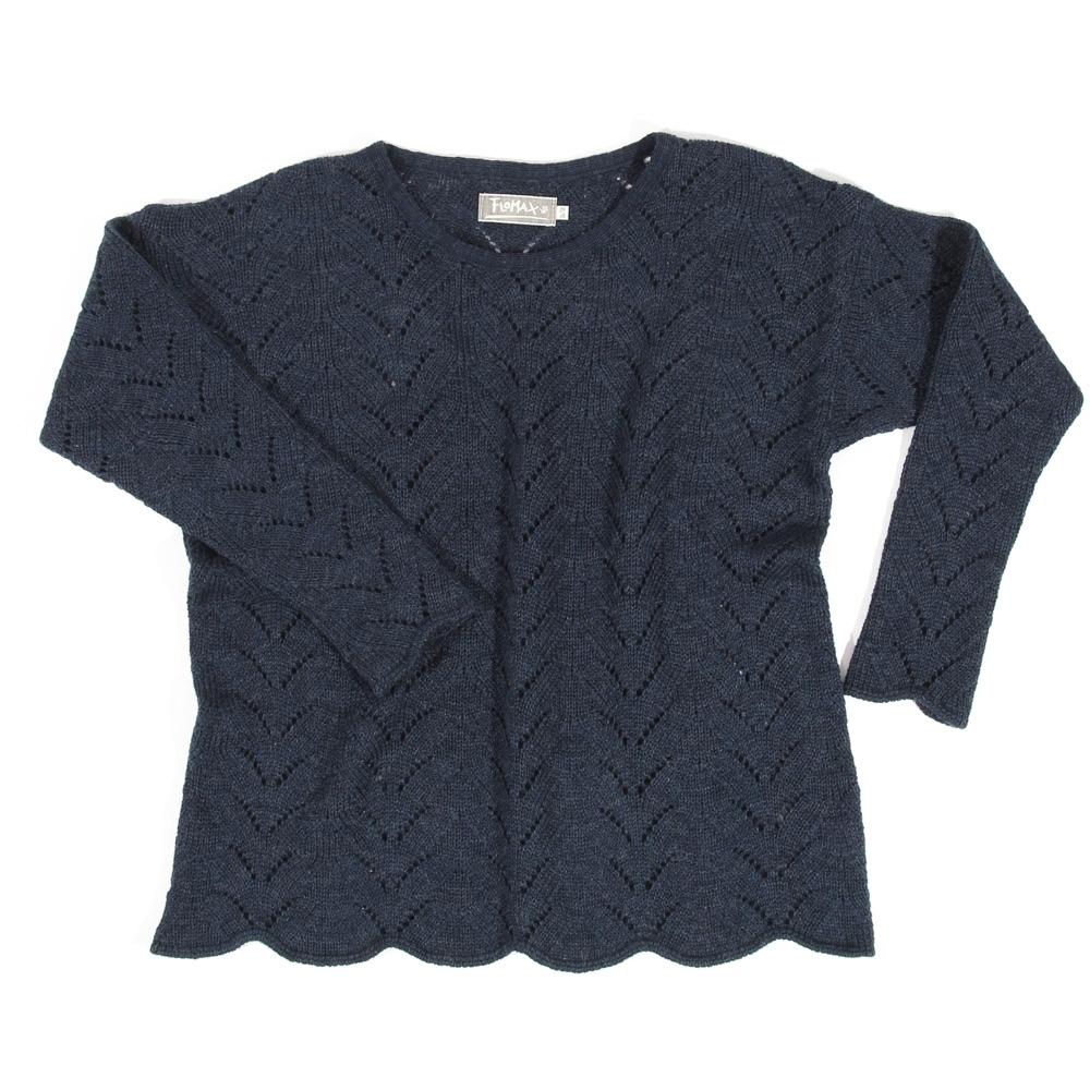 Ajour Oversize Pullover Sina | nachtblau
