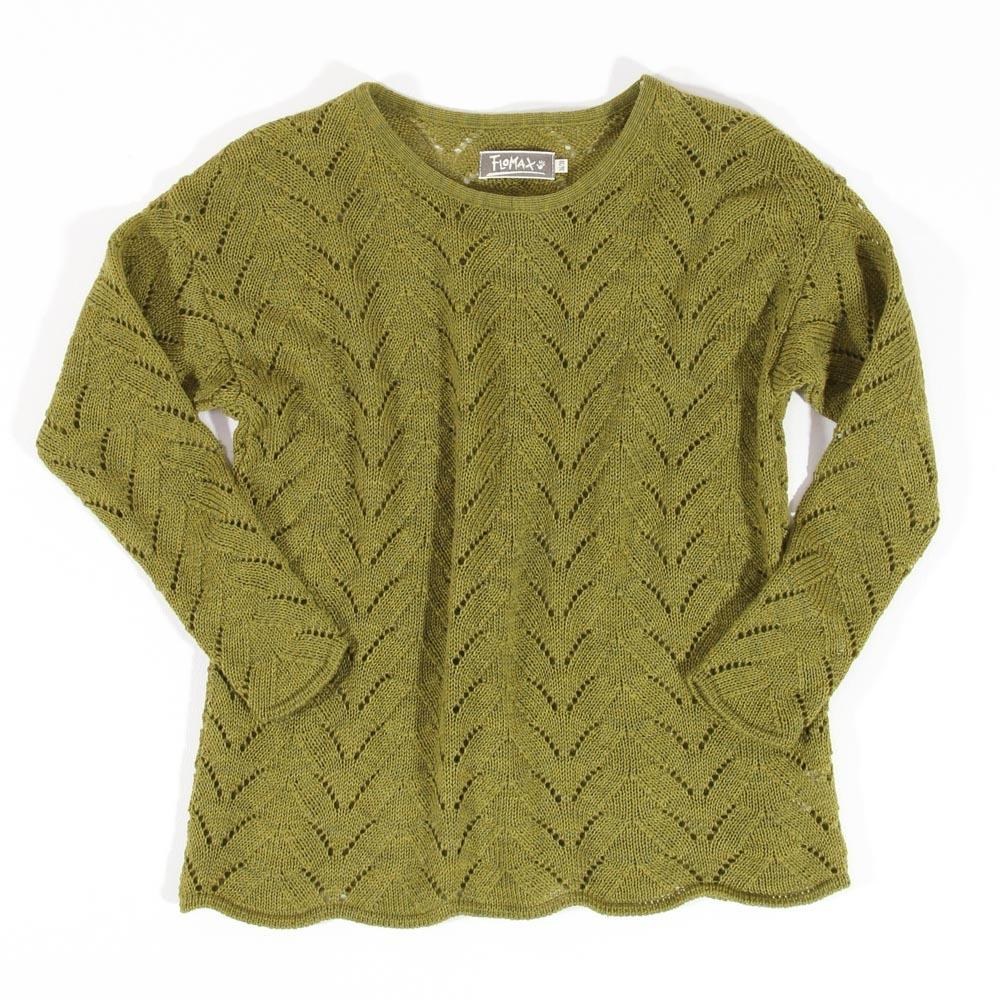 Ajour Oversize Pullover Sina | farn