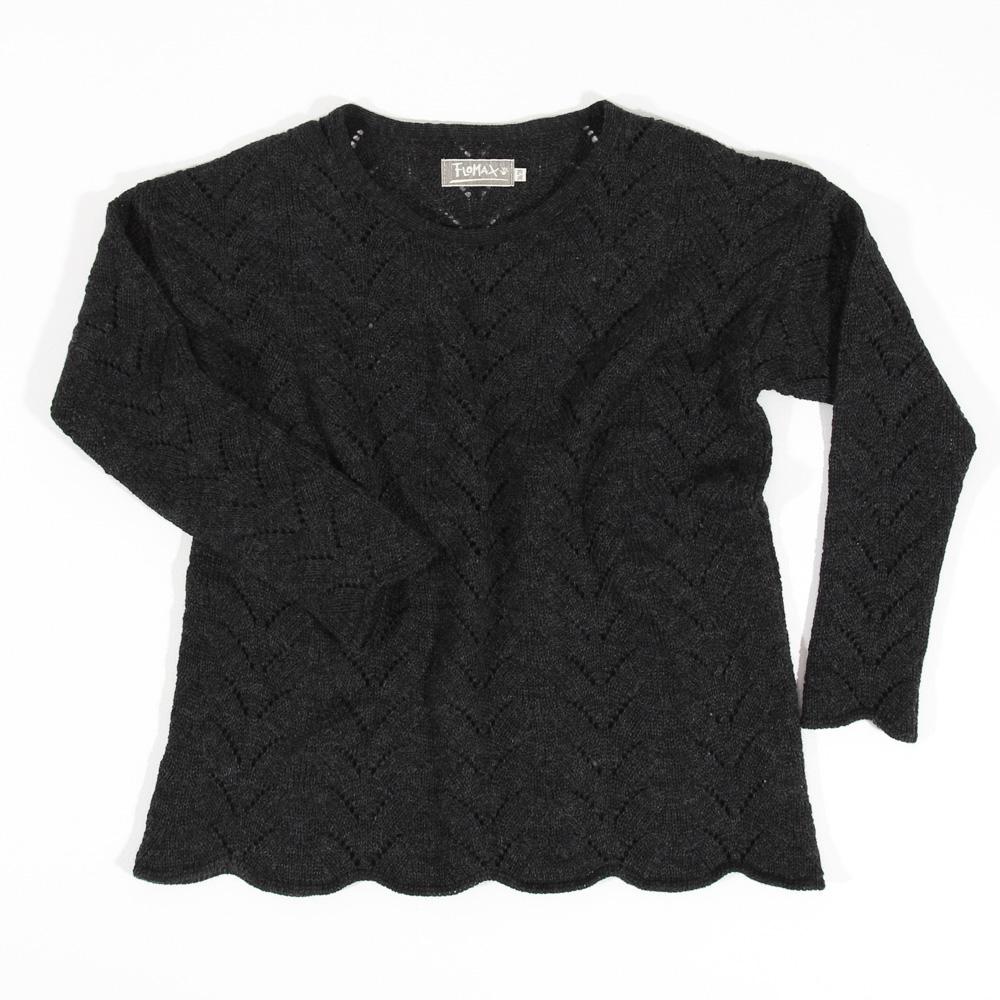 Ajour Oversize Pullover Sina | gewitter