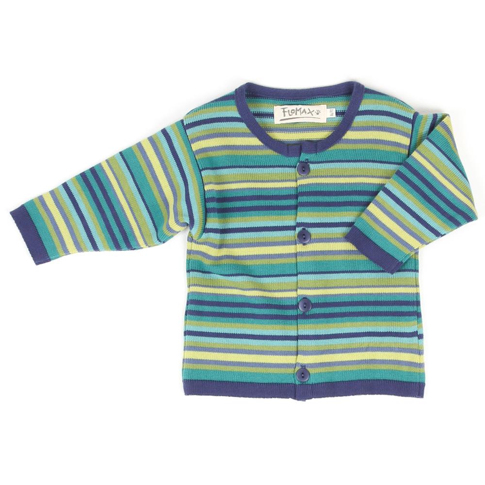 Strickjacke Trixi Baby indigo|bunt
