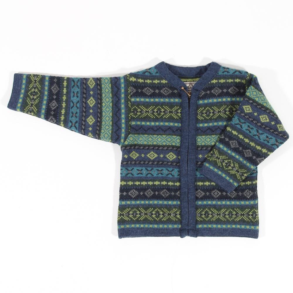 Strickjacke RV Hendrik Baby jeans bunt