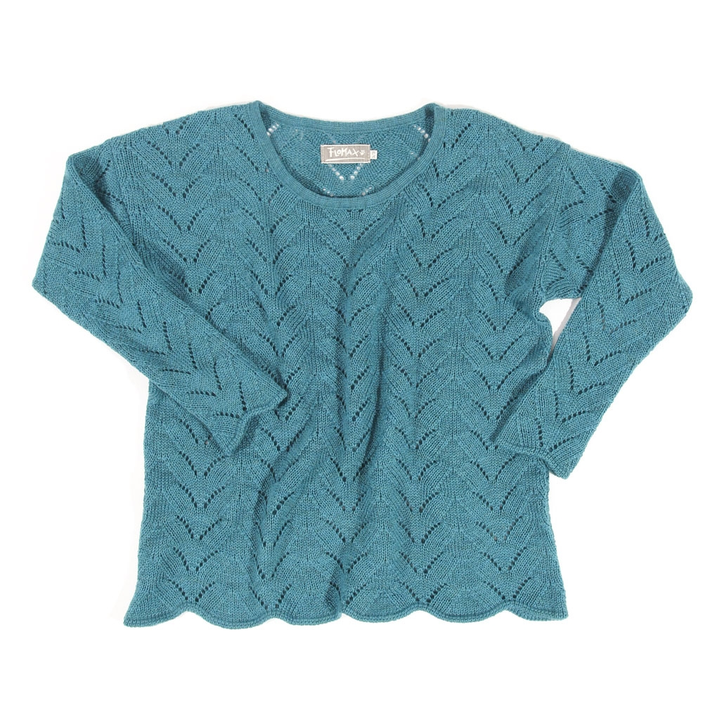 Ajour Oversize Pullover Sina | türkis