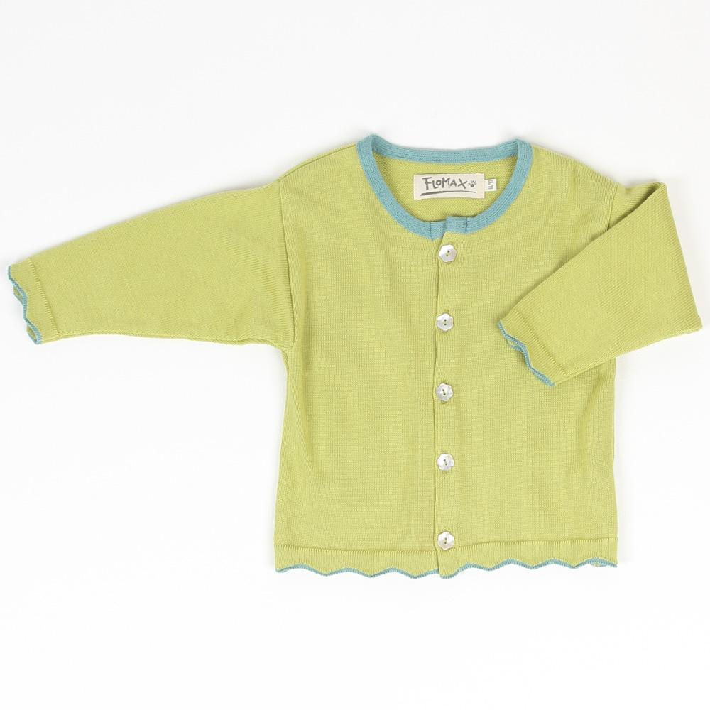 Strickjacke Babette Baby Bio-Baumwolle | moos