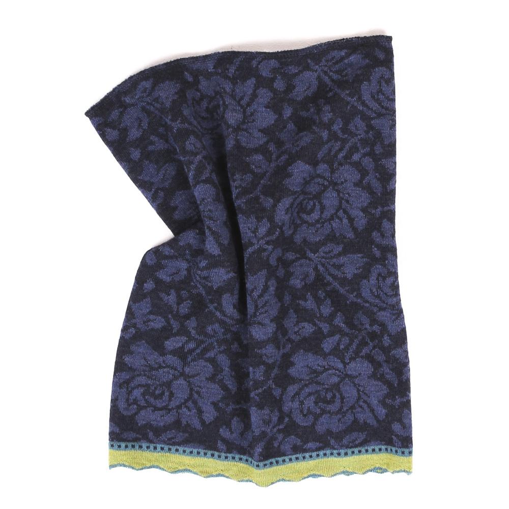 Schlauchschal | Loop Rosen allover nachtblau|jeans