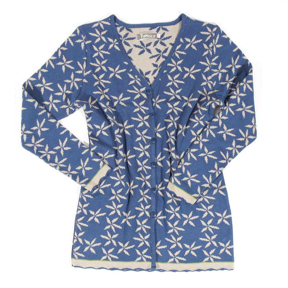 Jacke lang V Lela jeans|flax