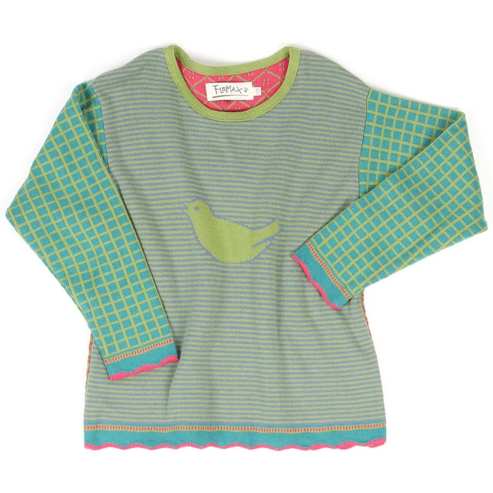 Pullover Spatz Kinder pistazie|bunt