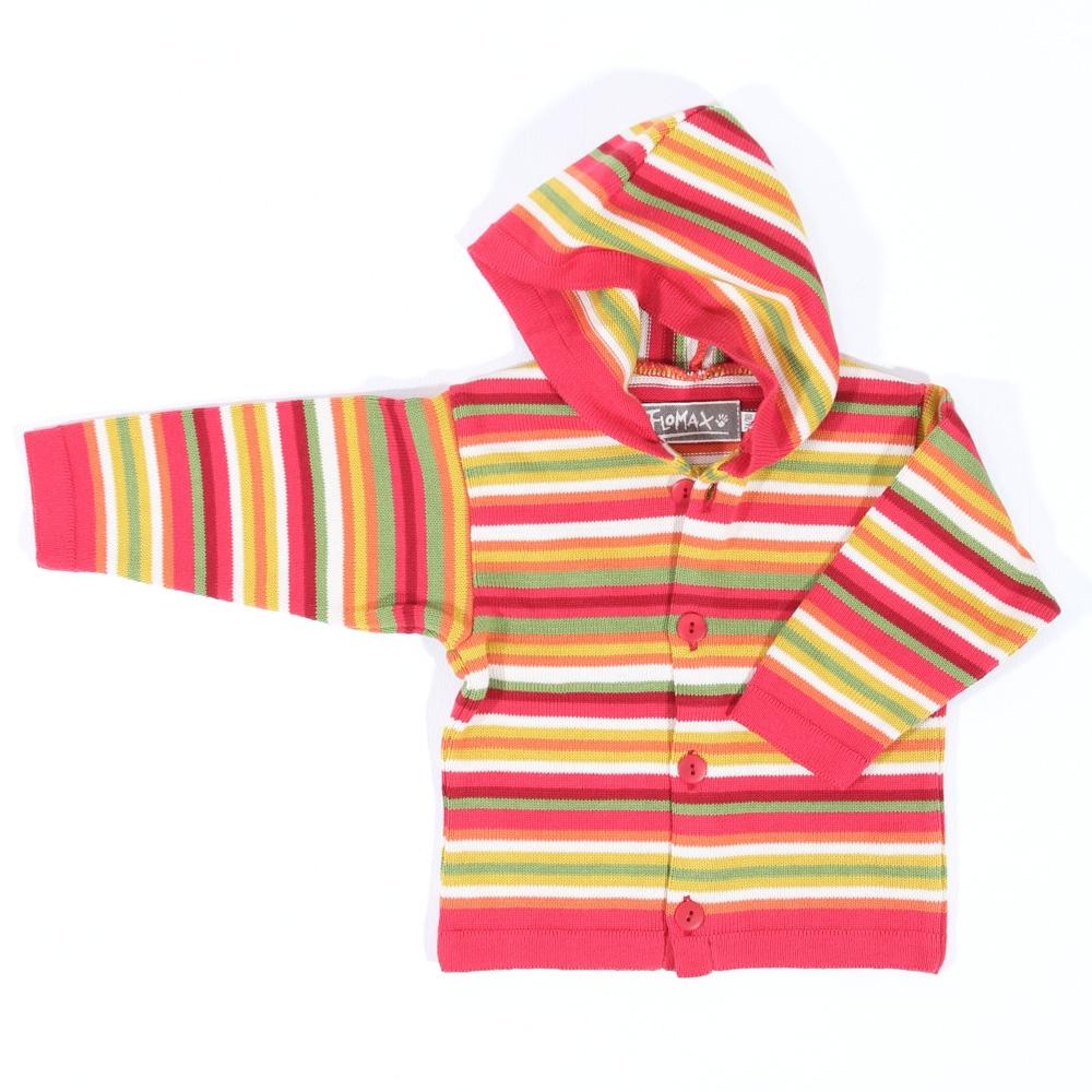 Kapuzenjacke Maxi Baby hibiskus|bunt