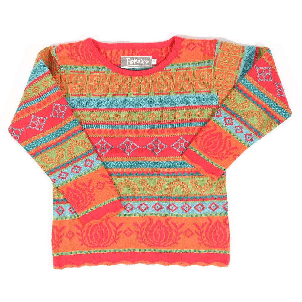 Pullover Bella Kinder hibiskus|mango